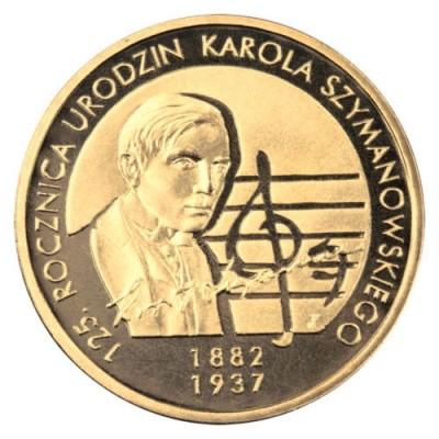 2 злотых 2007 год Польша. 125 лет со дня рождения Кароля Шимановского.