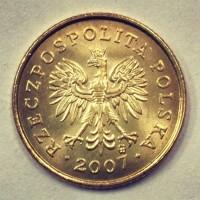 5 грошей 2007 год. Польша