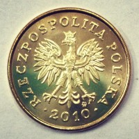 5 грошей 2010 год. Польша