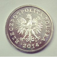 1 злотый 2014 год. Польша