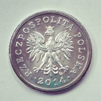 50 грошей 2014 год. Польша
