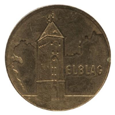 2 злотых 2006 год. Польша Эльблонг.