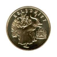 2 злотых 2001 год. Польша. Колядование.