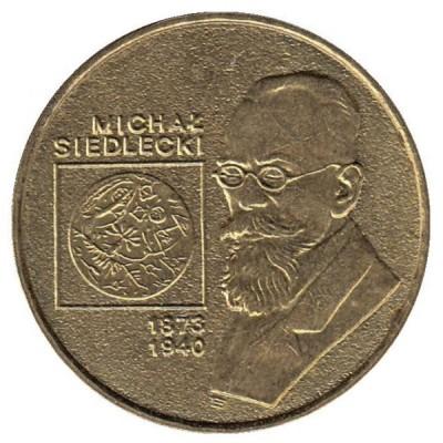 2 злотых 2001 год. Польша. Михал Седлецкий.