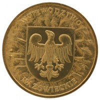 2 злотых 2004 год Польша. Мазовецкое воеводство