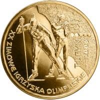 2 злотых 2006 год Польша. Зимние Олимпийские игры Турин.