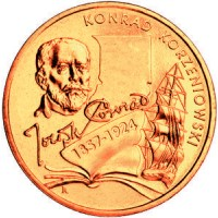 2 злотых 2007 год. Польша. Джозеф Конрад Коженевский.