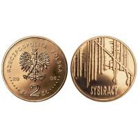2 злотых 2008 год Польша. Сибиряки.