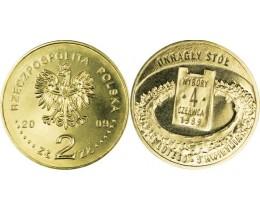 2 злотых 2009 год Польша.  Выборы 4 июня 1989 года.