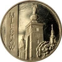 2 злотых 2010 год. Польша. Мехув.