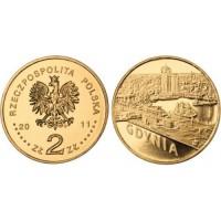 2 злотых 2011 год. Польша. Гдыня