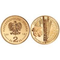 2 злотых 2012 год. Польша. 150 лет Банковской системе в Польше