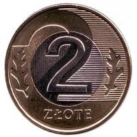 2 злотых 2014 год. Польша