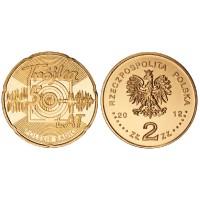 2 злотых 2012 год Польша. 50-летие польской программы Радио-3.