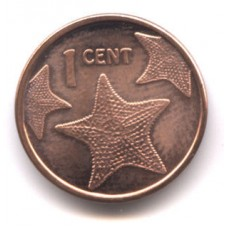 Багамские острова. 1 цент 2015 год. Морская звезда.