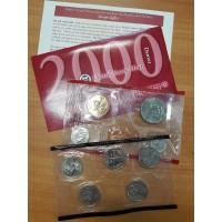 Годовой набор разменных монет США 2000 года (D)