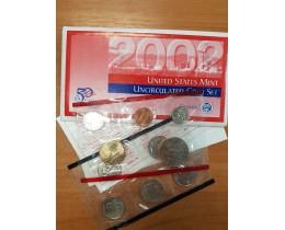 Годовой набор разменных монет США 2002 года (D)