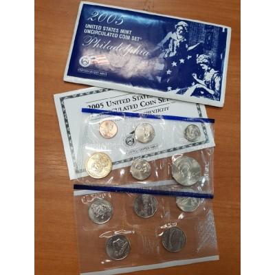 Годовой набор разменных монет США 2005 года (P)