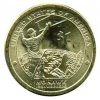 1 доллар 2015 год. США. Сакагавея. Мохоки (D)