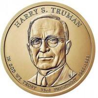 1 доллар 2015 год. США. Гарри Трумэн 33-й президент (D)