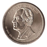 1 доллар 2016 год. США. Ричард Никсон. 37-й президент (D)