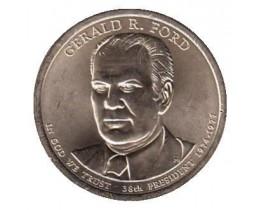 1 доллар 2016 год. США. 38-й президент Джеральд Форд. (Р)