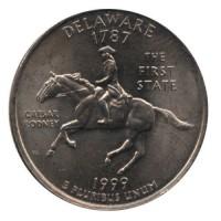 25 центов 1999 год. США. Делавер. (D)