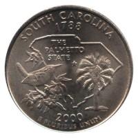 25 центов 2000 год. США. Южная Каролина. (P)