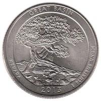 25 центов 2013 год. США. Национальный парк Грейт-Бейсин. (P)