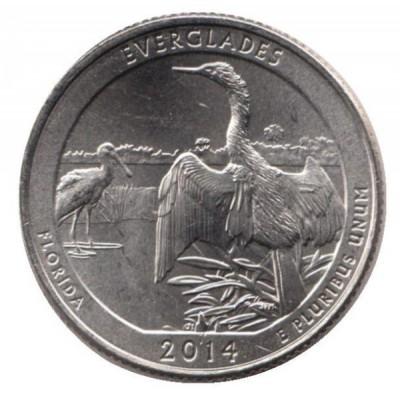 25 центов 2014 год. США. Эверглейдс. (D)