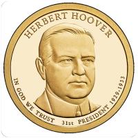 1 доллар 2014 год. США. Герберт Кларк Гувер 31-й президент ( Р)