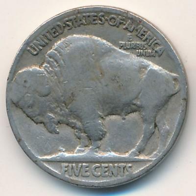 5 центов 1936 год. США. Индеец. Бизон.