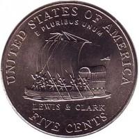 5 центов 2004 год. США. Корабль, двор P