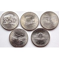 Набор монет 5 центов 2004-2006 гг. США. 200-летие экспедиции Льюиса и Кларка