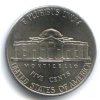 5 центов 2006 год. США. здание Mounticello, двор D