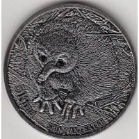 Папуа - Новая Гвинея 5 кина 2012 год. Ехидна (КОПИЯ!)