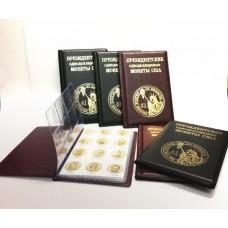 Монетник для президентских однодолларовых монет США с промеж. листами с изображениями монет