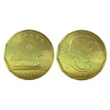 1 доллар 2012 год. Канада. Полярная гагара