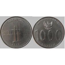 Индонезия 1000 Рупий 2010 год. Ангклунг. UNC