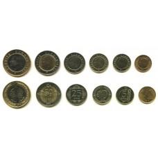 Набор монет Турция (6 монет)