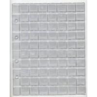 Лист для монет 200х250 мм на 70 ячеек 25х25 мм (с клапанами) формат Оптима