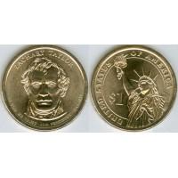 1 доллар 2009 год. США . Закари Тейлор 12-й президент (D)