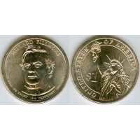 1 доллар 2010 год. США. Миллард Филлмор. 13-й президент (P)