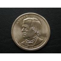 1 доллар 2011 год. США. Эндрю Джонсон. 17-й президент (D)