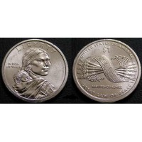 1 доллар 2010 год. США. Сакагавея. Стрелы (Р)
