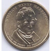 1 доллар 2009 год. США. Уильям Гаррисон. 9-й президент (D)
