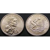1 доллар 2009 год. США. Сакагавея. Три сестры (Р)