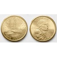 1 доллар 2000 год. США. Сакагавея. Орел (Р)