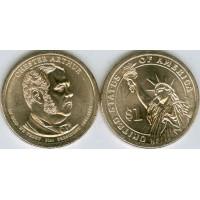 1 Доллар 2012 год. США. Честер Артур 21-й президент (D)