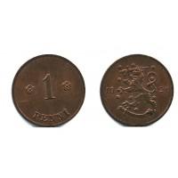 1 пенни 1921 года (Регулярный выпуск) — Финляндия